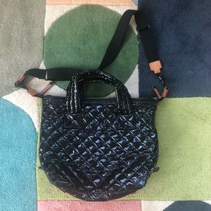MZ Wallace Sutton bag shiny black